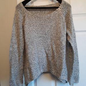 Grey knit sweater